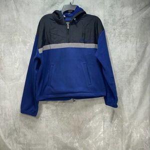 Tommy Hilfiger Sport Blue Polar Fleece Half-Zip Pullover Hoodie SZ L